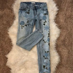 Free people embroidered jeans